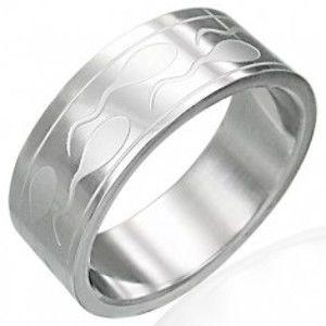 Ocelový prsten se spermiemi a dvěma pásky K18.8