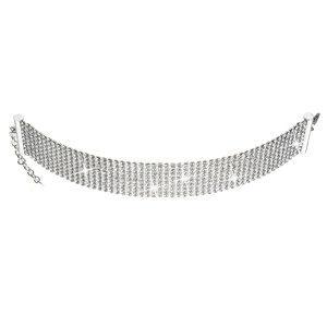 Evolution Group Stříbrný náhrdelník se Swarovski krystaly bílý 32004.1, dárkové balení