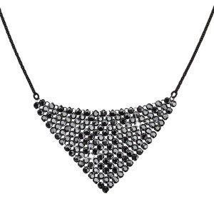 Evolution Group Stříbrný náhrdelník s krystaly Swarovski černý 32019.5, dárkové balení
