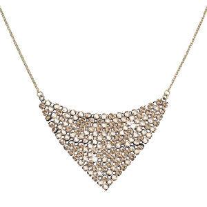 Evolution Group Stříbrný náhrdelník s krystaly Swarovski zlatý 32019.5, dárkové balení