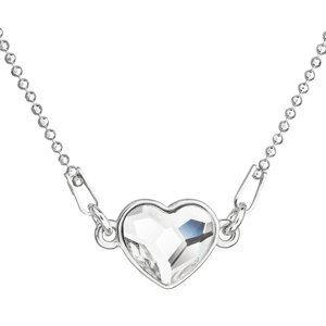 Evolution Group Stříbrný náhrdelník s krystalem Swarovski bílé srdce 32061.1, dárkové balení