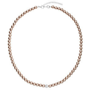 Evolution Group Perlový náhrdelník hnědý 32063.3, dárkové balení