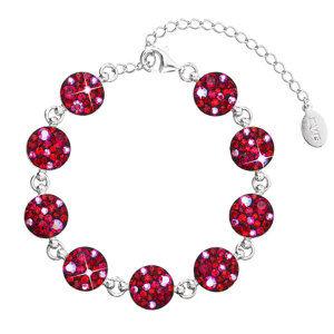 Evolution Group Stříbrný náramek se Swarovski krystaly červený 33048.3 cherry, dárkové balení