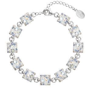 Evolution Group Stříbrný náramek se Swarovski krystaly modrý 33047.3 light sapphire, dárkové balení