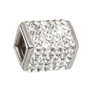 Evolution Group Stříbrný přívěsek s krystaly bílá kostička 34134.1, dárkové balení