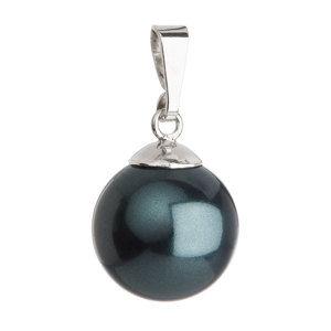 Evolution Group Stříbrný přívěsek se zelenou kulatou perlou 734151.3, dárkové balení
