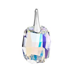 Evolution Group Stříbrný přívěsek s krystaly Swarovski ab efekt obdélník 34254.2, dárkové balení
