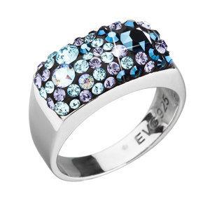 Evolution Group Stříbrný prsten s krystaly Swarovski modrý 35014.3 blue style, dárkové balení