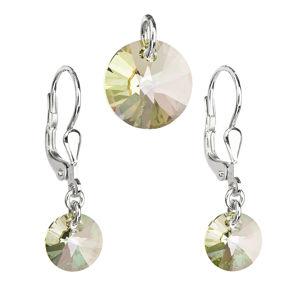 Evolution Group Sada šperků s krystaly Swarovski náušnice a přívěsek zlaté kulaté 39090.6, dárkové balení
