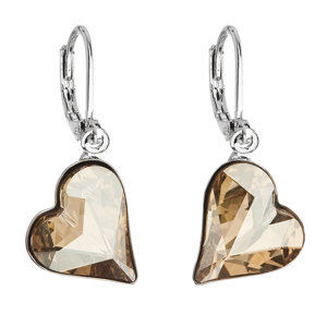 Evolution Group Náušnice bižuterie se Swarovski krystaly zlatá srdce 51054.5