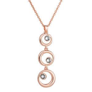 Evolution Group Náhrdelník bižuterie se Swarovski krystaly čirý 3 kruhy 52014.1 krystal au