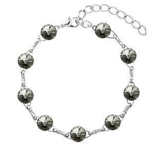 Evolution Group Náramek bižuterie se Swarovski krystaly šedý 53001.3