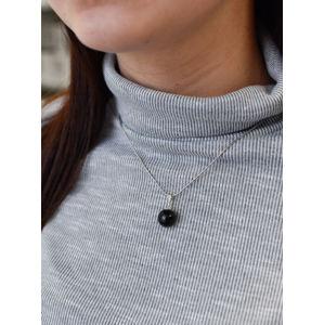 Evolution Group Stříbrný přívěsek černá perla 74009.3, dárkové balení