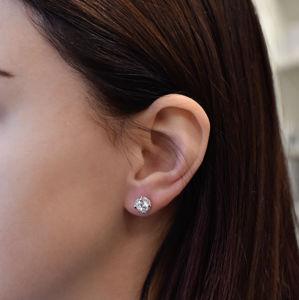 Evolution Group Sada šperků s krystaly Swarovski náušnice a přívěsek bílé kulaté 79024.1, dárkové balení