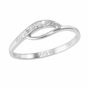 Evolution Group Zlatý prsten 85003.1 bílé zlato s brilianty