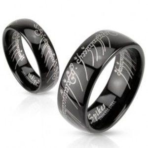 Černá ocelová obroučka s motivem Pána prstenů BB13.03