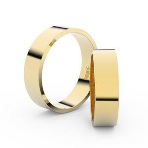 Zlatý snubní prsten FMR 1G55 ze žlutého zlata, bez kamene