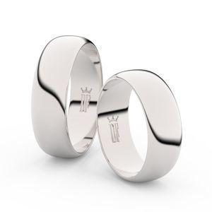 Zlatý snubní prsten FMR 3B65 z bílého zlata, bez kamene
