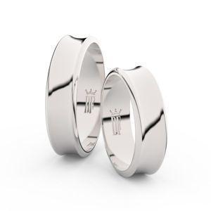 Snubní prsteny ze stříbra, 5.6 mm, konkávní, pár - 5C57