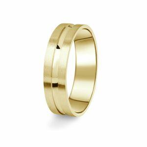 Prsten Danfil DF08/P žluté zlato 585/1000 s bez kameneem povrch brus 57