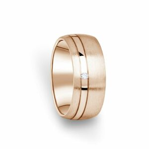 Zlatý dámský prsten DF 18/D z růžového zlata, s briliantem 50