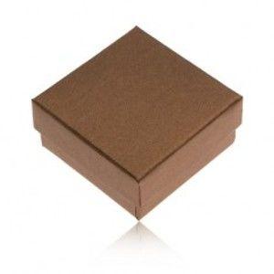 Dárková krabička na prsten a náušnice v bronzové barvě Y27.5