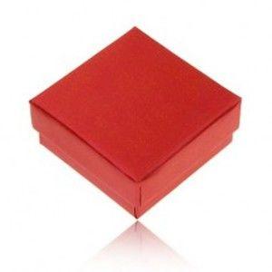 Dárková krabička na prsten a náušnice, perleťová červená barva Y32.14