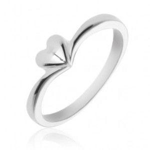 Jednoduchý stříbrný prsten 925 se srdíčkem X24.1