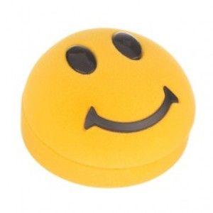 Krabička na náušnice - žlutý smajlík Y31.12