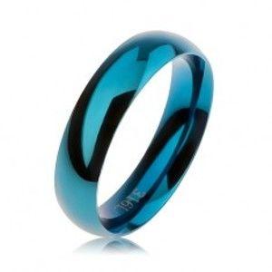 Modrý ocelový prsten, hladký zaoblený povrch, vysoký lesk, 5 mm HH4.5