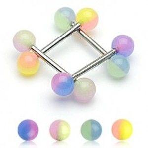 Piercing do jazyka dvoubarevná kulička N3.23