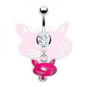 Piercing do pupíku Cute Cat N32.3