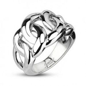 Prsten z chirurgické oceli - proplétaný vzor D2.3