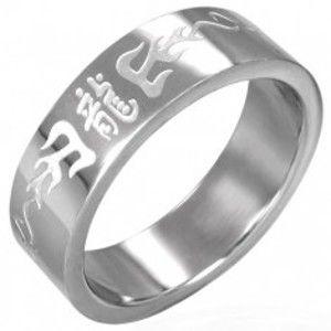 Prsten z chirurgické oceli s čínskými symboly D1.17