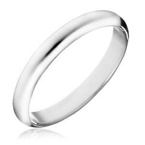 Prsten ze stříbra 925 - hladký lesklý kroužek - Velikost: 49
