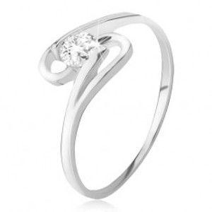 Prsten ze stříbra 925, kulatý zirkon mezi dvěma smyčkami BB11.10