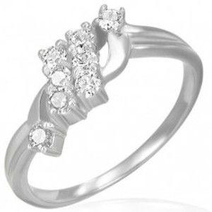 Snubní prsten - dva zirkonové pruhy F8.3
