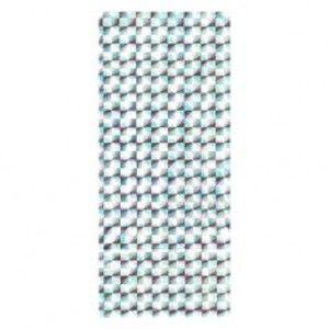 Stříbrný dárkový sáček z celofánu s odleskem - čtverce s paprsky TY21