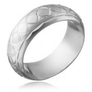 Stříbrný prsten 925 - gravírovaná proplétaná očka H13.17