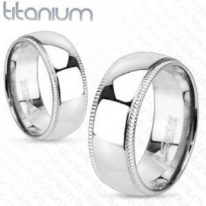Titanový prsten s ozdobnými vroubkovanými okraji L1.08/L3.05