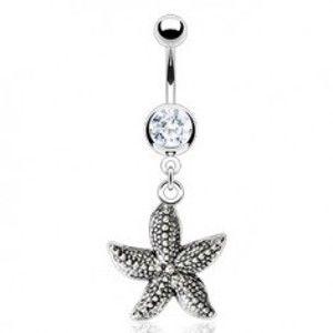 Vintage piercing do pupíku - mořská hvězdice F13.18