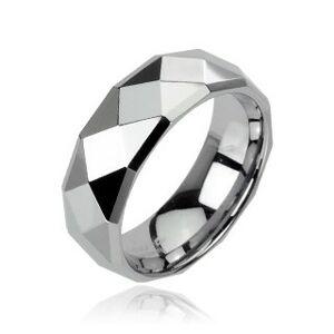Wolframový prsten s motivem disco - Velikost: 51