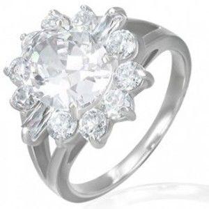 Zásnubní prsten - mohutný zirkonový květ F6.10